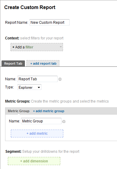 Google Analytics - Custom Reports
